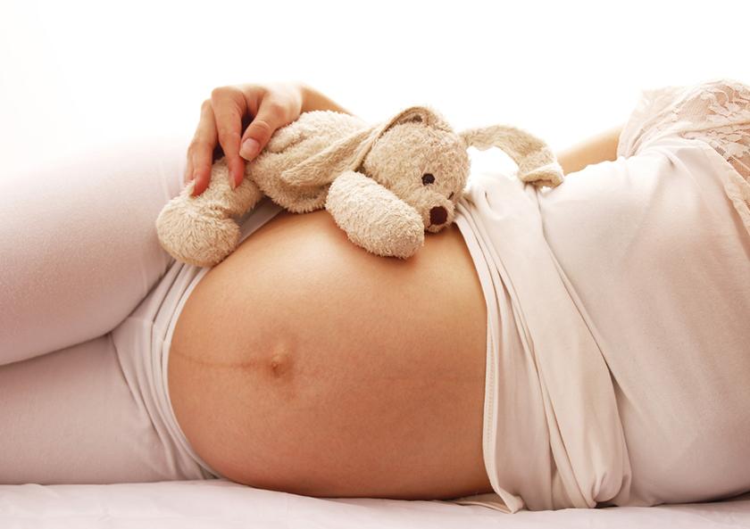 Полоска на животе при беременности